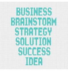 Business word on grey background vector image