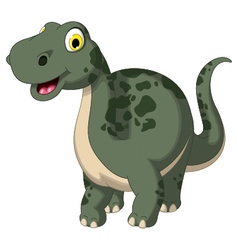 cute dinosaur cartoon posing vector image