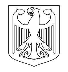 German coat of arms icon outline style vector image