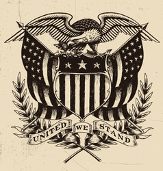 Hand drawn american eagle linework vector