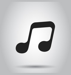 Music icon sound note business simple flat vector
