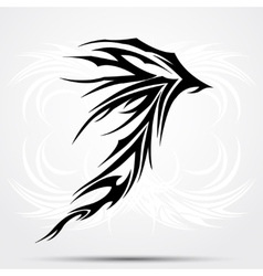 Black celtic tattoo Tribal for tattoo saloons vector image