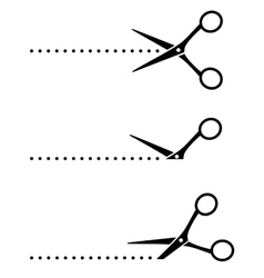 cutting scissors and points vector image vector image
