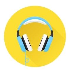 Headphones flat icon vector image vector image