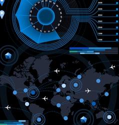 infographic flower histogram set elements in vector image