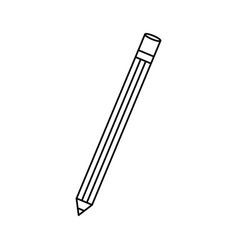 isoated study pencil vector image