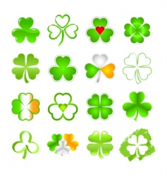 selection of shamrock vector image vector image