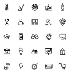 SME line icons on white background vector image vector image