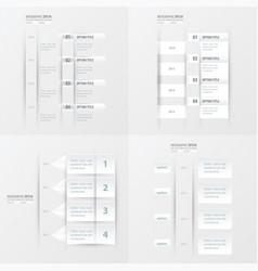 timeline design 4 item white color vector image