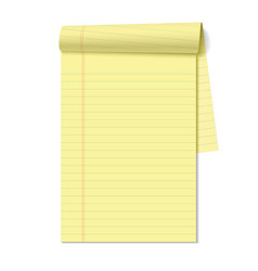 Blank legal pad vector image vector image