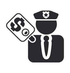 cop corruption icon vector image vector image