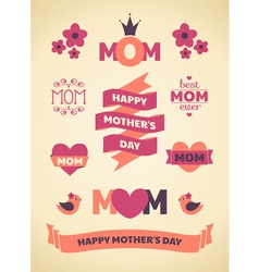 Mothers Day Design Elements vector image vector image