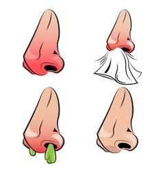 Runny nose set vector