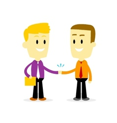 Two Businessman Shaking Hand vector image vector image