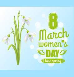 8 march womens day poster vector image