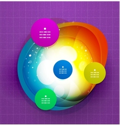 Abstract colorful modern steps template vector image
