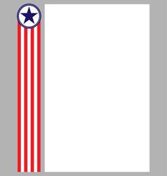 american flag symbols frame border vector image