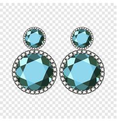Apatite earrings mockup realistic style vector