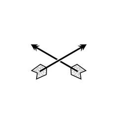 archery logo design template vector image