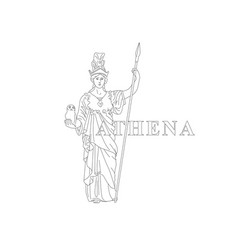 Athena greek goddess reason wisdom vector