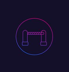 Automatic gate icon linear design vector