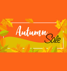 autumn sale banner horizontal flat style vector image