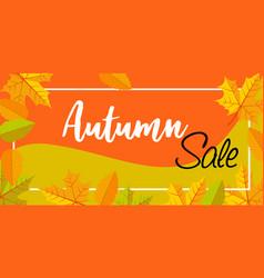 autumn sale banner horizontal flat style vector image