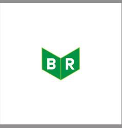 B r joint letter logo monogram design vector