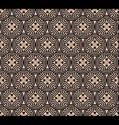 background seamless with ethnic circular pattern vector image