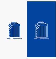 bank banking building federal government line and vector image