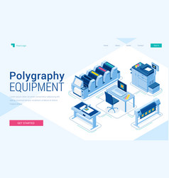 Banner polygraphy equipment vector