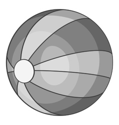 Beach ball icon gray monochrome style vector image