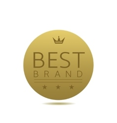 Best brand label vector