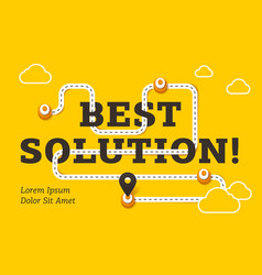 best solution business concept with winding road vector image