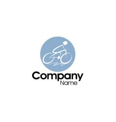 Bicycle logo design vector