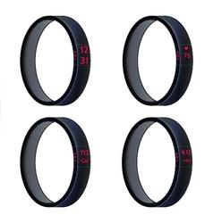 Black smart wristbands vector