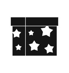 Box magician icon simple style vector