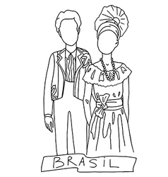 brasil vector image