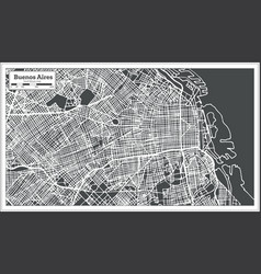 Buenos aires argentina city map in retro style vector
