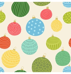 Christmas balls seamless pattern vector