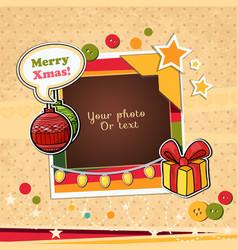 christmas template frame vector image