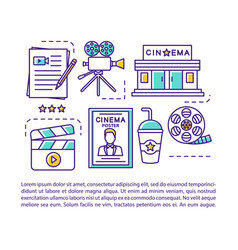 cinematography industry industry article page vector image