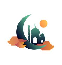 Colorful mosque icon islamic logo vector