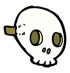 comic cartoon skull mask vector image