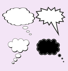 comic speech bubble concept of thought or dream vector image