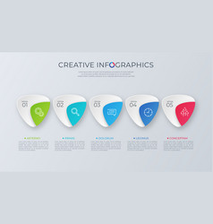contemporary minimalist infographic design vector image
