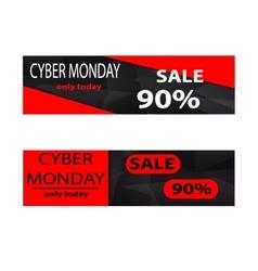 Cyber monday sales web elements vector image vector image