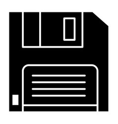 Diskette solid icon floppy disk vector
