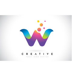 dots letter w logo w letter design with dots vector image