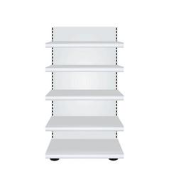 Empty store shelves vector